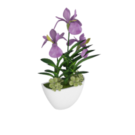 Iris with Wall Mounted Pot 33 cms
