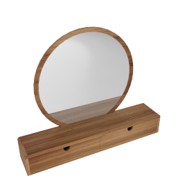 Laurel Vanity Mirror - Walnut