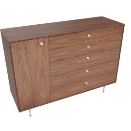 Nelson Thin Edge Chest Cabinet, Walnut