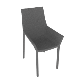 Sezz Side Chair - Brushed.Alum
