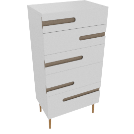 Notch 5 Drawer Bedside Table