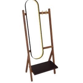 Ren - Standing mirror with Hangers, Testa di moro