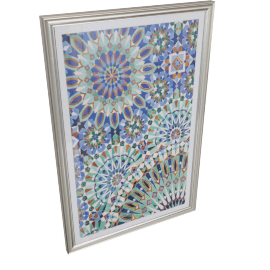 Arabesque Ornate Framed Canvas Print - 60x2.7x90