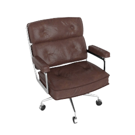 Eames Executive Chair - Vicenza Leather - Chocolate