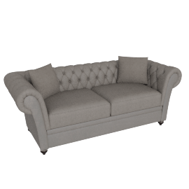 Ascot 3 Seater Oyster Silver