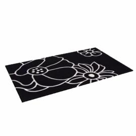 Blossom Rug, Black / Cream, W90 x L150cm