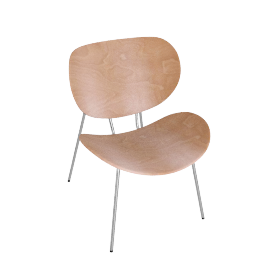 2 x Odin Low Chairs, Beech