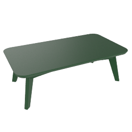 Satellite Rectangular Coffee Table, British Green
