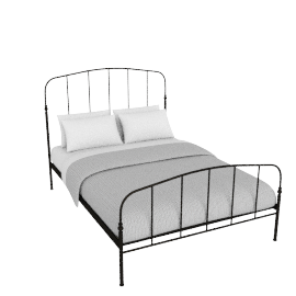 Resto Bedstead, Double, Matt Black