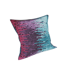 Diva Square Sequined Cushion - 45x45 cms, Multicolour