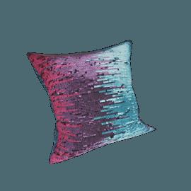 Diva Square Sequined Cushion - 45x45 cms, Multicolour