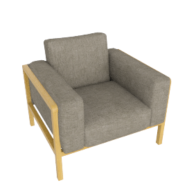 Hemming Armchair, Torino Charcoal