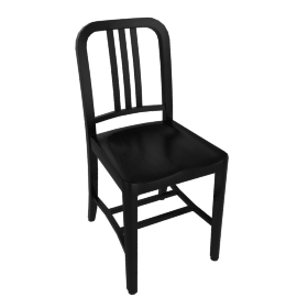 1006 Navy Wood Chair, Black Oak