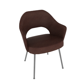 Saarinen Executive Armchair with Metal Legs - Leather