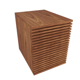 Line File Pedestal, Walnut