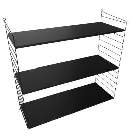 String Wall Shelving - 1 Bay - 32'', Black