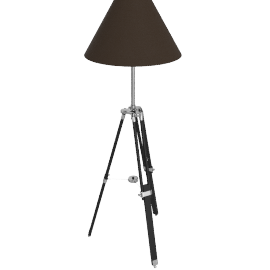 Navy tripod floor lamp