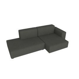 Mags Soft Low Sectional with Right Chaise, Linara - Tweed