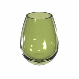 LSA Dimple Vase, Olive, 20cm