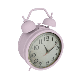 Giant Twin Bell Alarm Clock, Pink