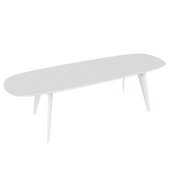 Solapa Slim Table High, White
