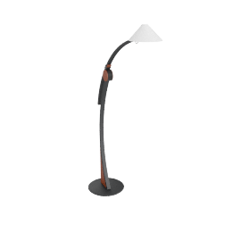 Domus Pollo Floor Lamp, black cherry