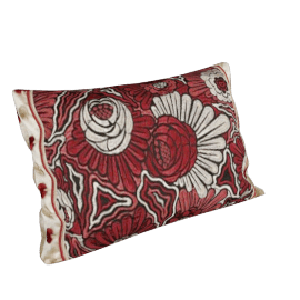 Neisha Crosland Collection Fanfare Cushion, Red / Gold, Small