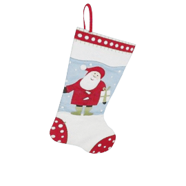 Santa Christmas Stocking, Large