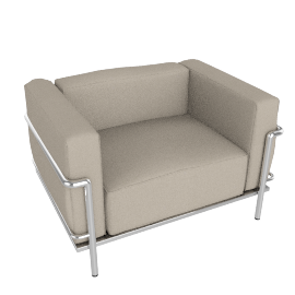 Outdoor LC3 Grand Modele Armchair - Sling Fabric - Taupe