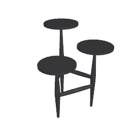 Tripod Side Table, 55cm