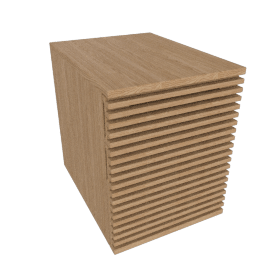 Line File Pedestal, Oak