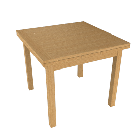 Lyon Square 4-6 Seater Extending Dining Table