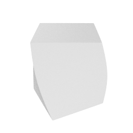 Frank Gehry Left Twist Cube - White