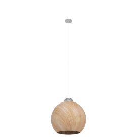 Aldebaran Glass Pendant Lamp-30X30X120Cmh-Wooden Finish