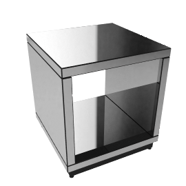 Astoria Mirrored Cube Side Table