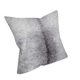 Faux Fur Cushion, Silver Stripe