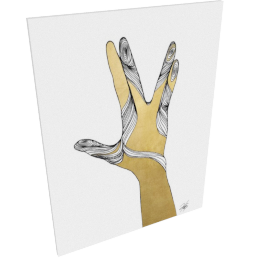 Sign Language VIII by KelliEllis - 24''x32'', Gallery wrap