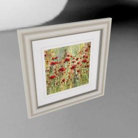 Catherine Stephenson - Scarlet Burst 1 Framed Print, 50 x 50cm