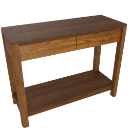 Seymour Console Table, Dark Stain
