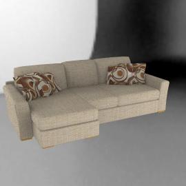 Catania Large Sofa Bed, Left Hand Facing, Beige