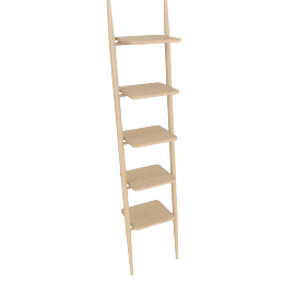 Folk Ladder 18'' Shelving, Natural Ash