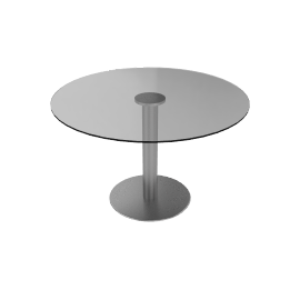 Zero Table - 47 in Glass Top