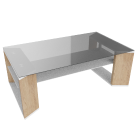 Royace Coffee Table, HG White/Brown