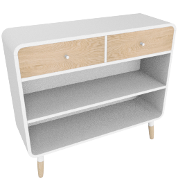 Edelweiss low bookcase
