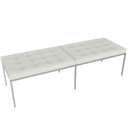 Florence Knoll Three Seater Bench - Leather