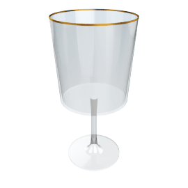 Acrylic Wine Glass, Gold