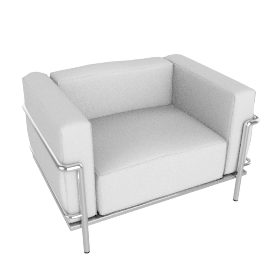 Outdoor LC3 Grand Modele Armchair - Sling Fabric - White