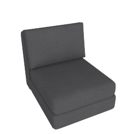Eterno 1 Seater Armless, Stone