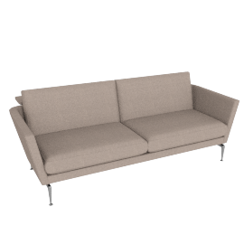 "Suita-92"" Sofa with Tray-Laser - SftLht.Ivory"