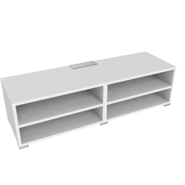 Match Media Storage Unit, White